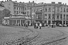 Одесса, площадь Мартыновского (Греческая). Фотограф Борис Владимирович Зозулевич, 1957 г.