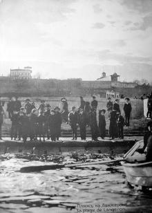 Пляж на Ланжероне. Из фотоальбома, изданного И. Покорным. Одесса, 1914 г.