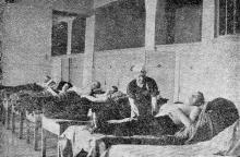 Грязелечебный зал Лермонтовского курорта. Фото в брошюре «Грязелечение на Одесских курортах», 1957 г.