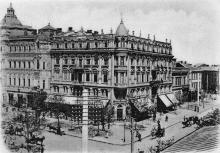 Одесса. Преображенская угол Садовой. Почтовая карточка, 1898-1902 гг.