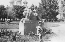 Одесса, в Пушкинском сквере, 1950-е гг.