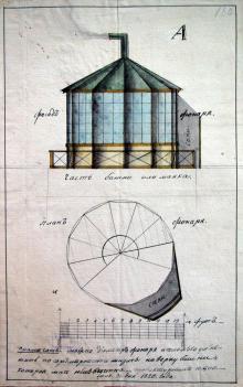 План Большефонтанского маяка. Из собрания ГАОО. 1820 г.