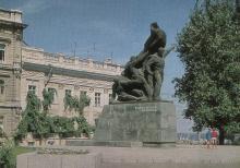 Одесса. Памятник героям-потемкинцам. Фото А. Маркелова. Почтовая открытка из набора 1975 г.