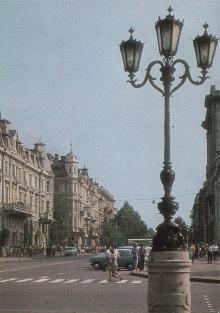 Одесса. Улица им. В.И. Ленина. Фото Б. Круцко. Почтовая открытка из набора 1975 г.