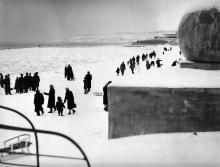 Одесса. Ланжерон. Фотограф Израиль Клейман. 10 февраля 1963 г.