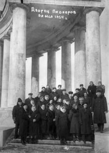 Колоннада Воронцовского дворца, 1941 г.
