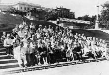 Строительство морвокзала, 1960-е годы