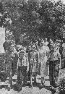 Украинский Артек. Фото Я. Левита в газете «Большевистское знамя». 29 июня 1952 г.