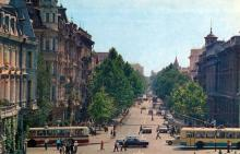 Одесса. Улица В.И. Ленина. Фото Б. Логинова, А. Маркелова. Комплект открыток «Одесса», 1975 г.