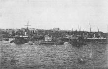 Одесса. Вид с моря. Почтовая карточка. 1920-х гг. Воспроизведена фотография 1900-х гг.