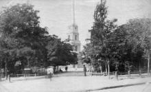 Колокольня Спасо-Преображенского собора до реконструкции