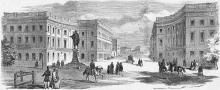Одесса. Бульвар. Рисунок в газете 1858 г.