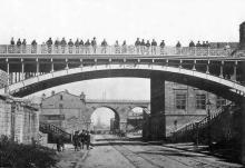 Карантинная балка, мост Коцебу, на заднем плане Строгановский мост