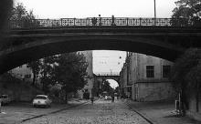 Мост Коцебу, на заднем плане Строгановский мост, 1970-е гг.