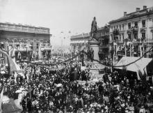 Открытие памятника Екатерине II. Фотограф П. Ганкевич. Одесса, 6 мая 1900 г.