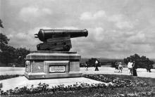Одеса. Приморський бульвар. Трофейна гармата. Фото М. Рижака та О. Малаховського. Поштова картка. 1950-е рр.