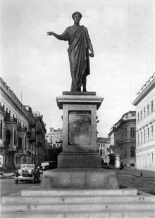 Одесса. Памятник Ришелье. Фото Гельфгата. Открытое письмо. 1930-е гг.