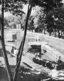 В Пионерском парке. Фото из буклета «Приморский бульвар». 1975 г.