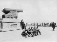Австро-Венгерские военнослужащие на Николаевском бульваре, лето 1918 г.