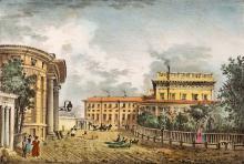 Дом ЕС Графа М.С. Воронцова, гравюра, 1837 г.