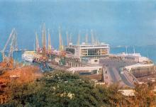 Одесса. Морской вокзал. Фото А. Шагина. Открытка из набора «Город-герой Одесса». 1969 г.
