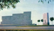 Одесса. Монумент героям обороны Одессы. Фото А. Шагина. Открытка из набора «Город-герой Одесса». 1969 г.
