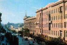 Одесса. Дерибасовская улица. Фото А. Шагина. Открытка из набора «Город-герой Одесса». 1969 г.