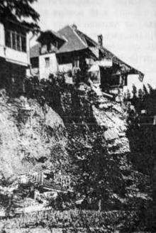 Черноморская улица. Оползень. Май, 1918 г.