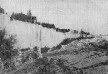 Фото в «Генеральной схеме противооползневых мероприятий побережья гор. Одессы». 1940 г.: Малый Фонтан. Оползень 4 июля 1898 г.