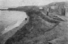 Ланжерон. Разрушение нижней террасы волноприбоем. Фото в «Генеральной схеме противооползневых мероприятий побережья гор. Одессы», 1940 г.