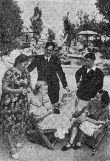 Новый дом отдыха № 6 ВЦСПС «Отрада». Фото Я. Левита в газете «Знамя коммунизма», 20 июня 1954 г.