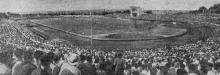 На стадионе «Пищевик». Фото Я. Левита в газете «Знамя коммунизма», 13 июля 1954 г.