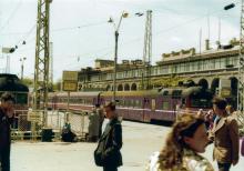 На вокзале, фотограф Кенно Туоминен, 1976 г.