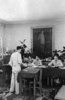 Одесса. Областная партшкола, госэкзамены. Фото из выпускного альбома 1948-1950 гг.