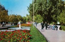 Одесса. Сквер на Дерибасовской улице. Фото Г. Петренко. Открытка из серии «Город-герой Одесса». 1975 г.
