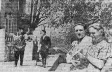 В санатории имени Чувырина. Фото в газете «Знамя коммунизма», 09 мая 1954 г.