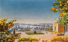 Город-герой Одесса. Художник В.С. Бибиков. Почтовая карточка. 1961 г.