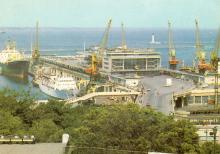 Одесса. Морской вокзал. Фото А. Рязанцева. Набор открыток «Одесса». 1988 г.