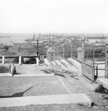 Вид на порт от Думы, 1900-е годы