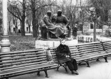 Одесса. Городской сад. Памятник Ленину и Сталину. Конец 1950-х гг.