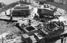 Одесса. Строительство памятника Потемкинцам на площади К. Маркса. 1965 г.