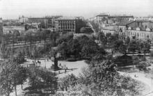 Одесса. Соборная площадь. Почтовая карточка, конец 1940-х гг.