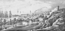 Вид Карантина, художник Франц Гросс, 1850-е годы