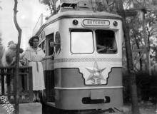 Линия детского трамвая, 1956 г.