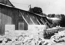 Строительство нового машинного зала цеха декоративно-технических сооружений (ДТС), конец 1930-х гг.