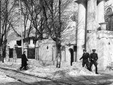Проходная Одесской киностудии. Зима, 1969 г.