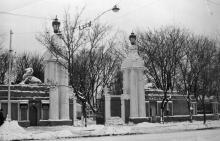 Внешний вид главной проходной на территорию Одесской киностудии. 1968 г.