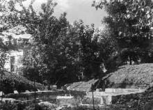 Строительство нового бассейна для комбинированных съемок, 1952 г.