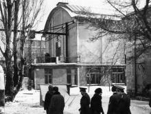 1-й павильон киностудии. Фото Осиповой. Зима, 1969 г.