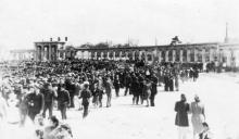 Центральный стадион «Пищевик». Фотограф Андрей Онисимович Лисенко. Конец 1940-х гг.